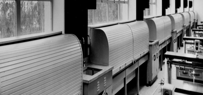 1957. The first Cookson counter fire door ... & Our Story